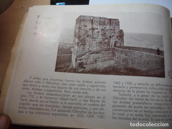 Militaria: magnifico libro gibraltar español reseña grafica de una parte de nuestro territorio nacional de 1940 - Foto 31 - 276222633