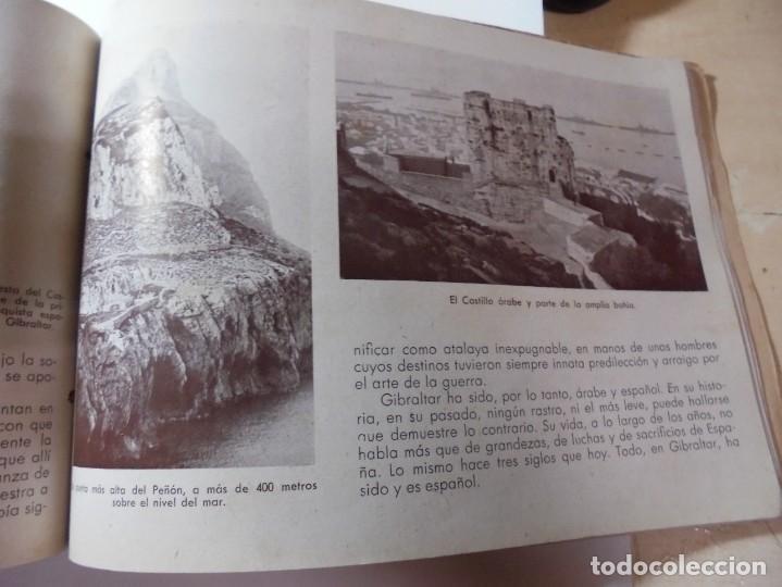 Militaria: magnifico libro gibraltar español reseña grafica de una parte de nuestro territorio nacional de 1940 - Foto 32 - 276222633