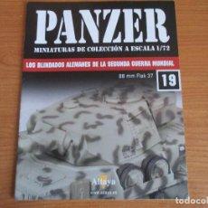 Militaria: PANZER: FASCICULO Nº 19 - LOS BLINDADOS ALEMANES DE LA SEGUNDA GUERRA MUNDIAL (ALTAYA). Lote 276521548