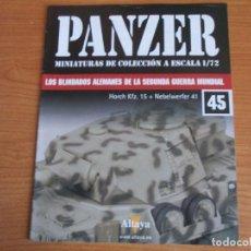 Militaria: PANZER: FASCICULO Nº 45 - LOS BLINDADOS ALEMANES DE LA SEGUNDA GUERRA MUNDIAL (ALTAYA). Lote 276522908