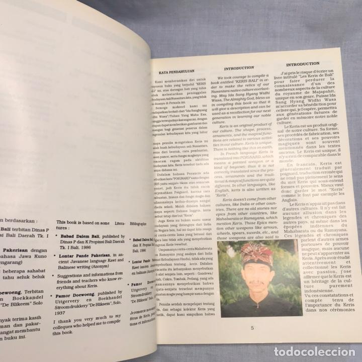 Militaria: LIBRO ARMAS BLANCAS KERIS BALI - Foto 4 - 276680578