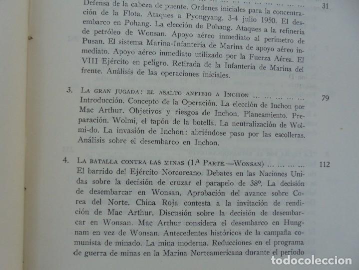 Militaria: LA GUERRA EN EL MAR EN COREA. EDITORIAL NAVAL. MELCON W. COGLE. FRANK A. MANSON. 1966 - Foto 8 - 277040943