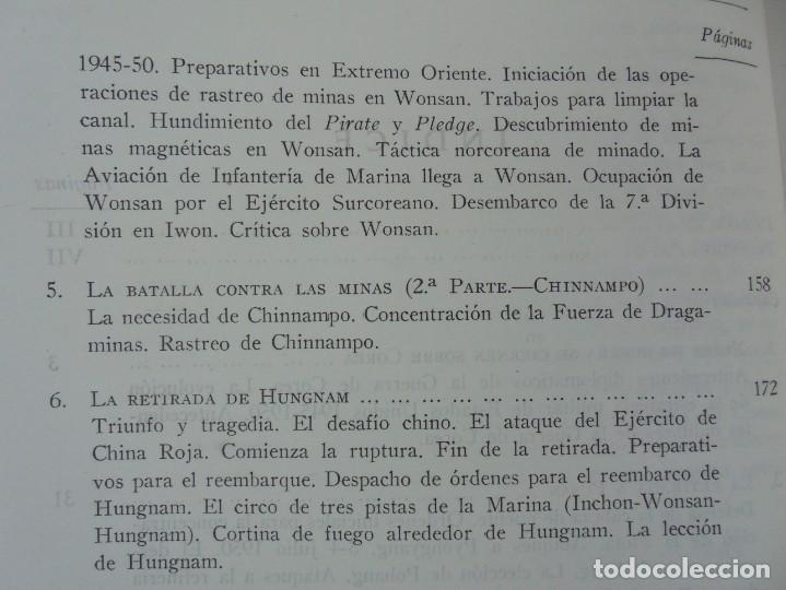 Militaria: LA GUERRA EN EL MAR EN COREA. EDITORIAL NAVAL. MELCON W. COGLE. FRANK A. MANSON. 1966 - Foto 9 - 277040943