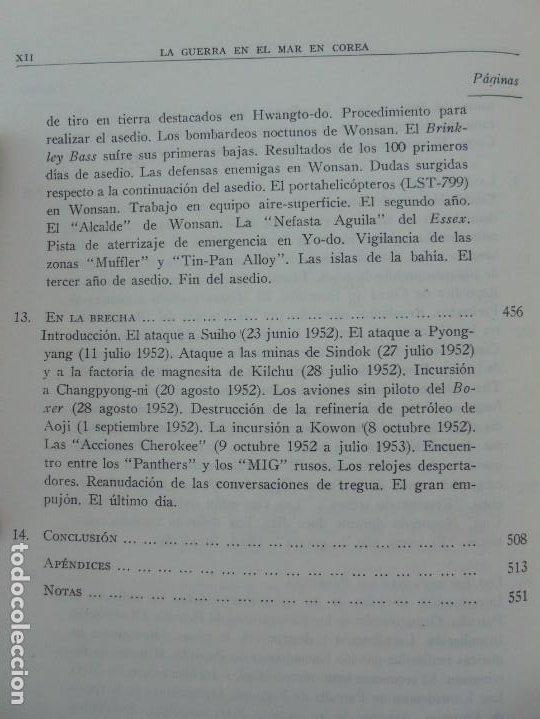 Militaria: LA GUERRA EN EL MAR EN COREA. EDITORIAL NAVAL. MELCON W. COGLE. FRANK A. MANSON. 1966 - Foto 13 - 277040943