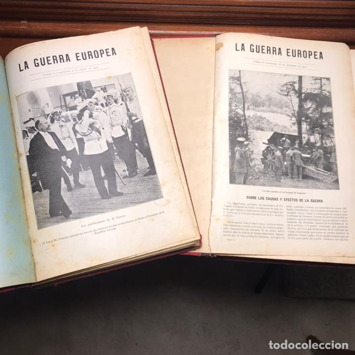LIBRO LA GUERRA EUROPEA 2 TOMOS REVISTAS SEMANARIO (Militar - Libros y Literatura Militar)