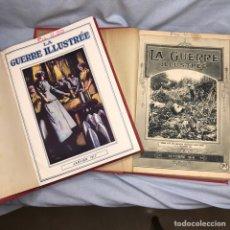 Militaria: LIBRO LA GUERRA ILUSTRADA - LA GUERRE ILLUSTREE - I GUERRA MUNDIAL 2 TOMOS. Lote 277170203