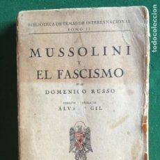 Militaria: MUSSOLINI Y EL FASCISMO. Lote 277611443