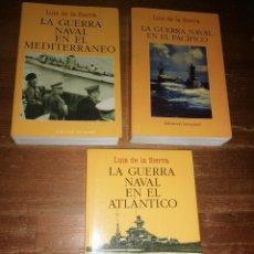Militaria: LUIS DE LA SIERRA: LA GUERRA NAVAL EN EL MEDITERRÁNEO/ ATLÁNTICO/ PACÍFICO (JUVENTUD). Lote 278689758