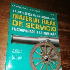Militaria: LA ARTILLERÍA EN LA GUERRA CIVIL. MATERIAL FUERA DE SERVICIO, INCORPORADO A LA CAMPAÑA. Lote 278757183