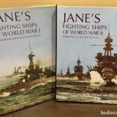 Militaria: JANE'S FIGHTING SHIPS OF WORLD WAR I & WORLD WAR II. 2 TOMOS. MÁS DE 1000 ILUSTRACIONES. 32 CM. 1989. Lote 279528778