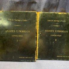 Militaria: 2 TOMOS APUNTES Y MODELOS FORMULARIOS CONSULADOS BUENOS AIRES 1946 FELIX YTURRIAGA Y CODES 29X23X6C. Lote 281035503