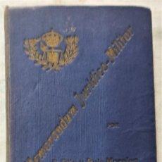 Militaria: MEMORANDUM JURÍDICO-MILITAR PARA EL AÑO 1923 - FEDERICO PITA Y JOSÉ RUIZ MORALES - MADRID AÑO 1922. Lote 285418078