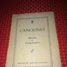 Militaria: CANCIONES PARA MARCHAS Y CAMPAMENTOS - AÑO 1942 - FRENTE DE JUVENTUDES - 110 PÁGINAS. Lote 287797988