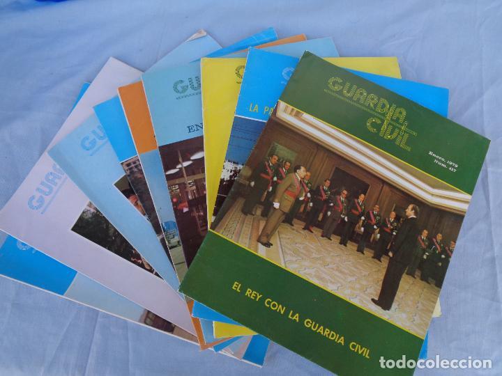 REVISTA GUARDIA CIVIL AÑO 1979, LOTE DE 9 REVISTAS DE ENERO A SEPTIEMBRE. (Militar - Libros y Literatura Militar)