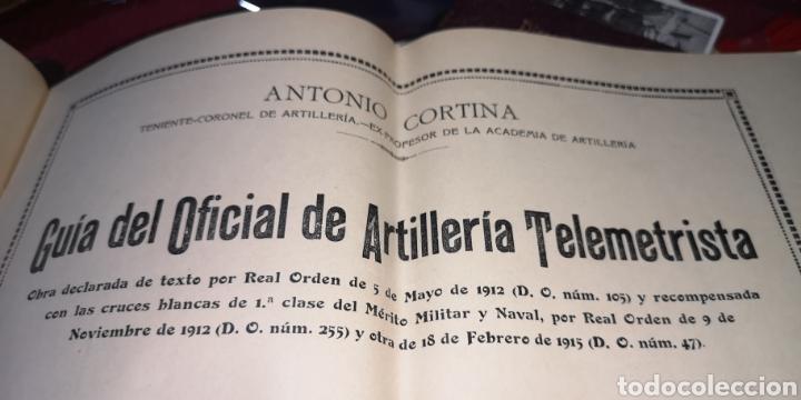 Militaria: Guía del oficial de artillería telemetrista año 1922, 14 láminas - Foto 3 - 288217568