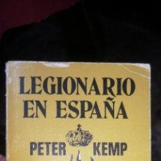 Militaria: LEGIONARIO EN ESPAÑA PETER EDITORIAL CARALT, 247 PÁGINAS. Lote 288218163