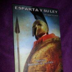 Militaria: ESPARTA Y SU LEY - EDUARDO VELASCO - DISPONGO DE MAS LIBROS. Lote 288675908