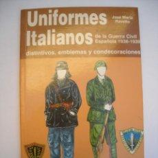 Militaria: UNIFORMES ITALIANOS DE LA GUERRA CIVIL ESPAÑOLA 1936 1939 DISTINTIVOS EMBLEMAS CONDECORACIONES. Lote 289601003