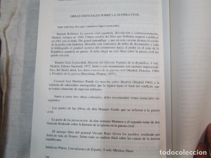 Militaria: HISTORIA ESENCIAL DE LA GUERRA CIVIL ESPAÑOLA - RICARDO DE LA CIERVA - EDITORIAL FENIX 1996 1.5kg + - Foto 6 - 293504778