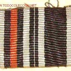 Militaria: PASADOR DOS CINTAS CONDECORACIÓN, MINIATURA. Lote 1791897