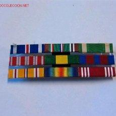 Militaria: PASADOR MEDALLAS CON 9 CINTAS. Lote 2120331