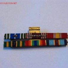 Militaria: PASADOR MEDALLAS CON 6 CINTAS. Lote 2581096
