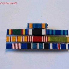Militaria: PASADOR MEDALLA CON 10 CINTAS. Lote 3001319