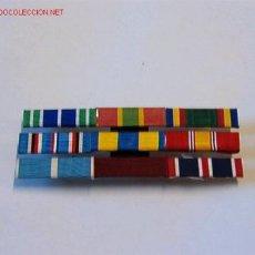 Militaria: PASADOR MEDALLA CON 9 CINTAS. Lote 2835580