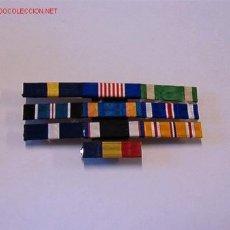 Militaria: PASADOR MEDALLA CON 10 CINTAS. Lote 3011795