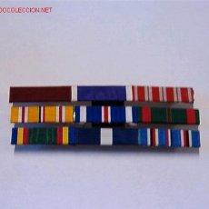 Militaria: PASADOR MEDALLA CON 9 CINTAS. Lote 3824677