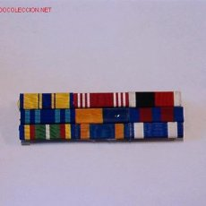 Militaria: PASADOR MEDALLA CON 9 CINTAS. Lote 23768139