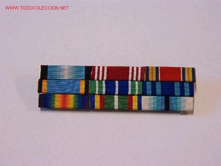PASADOR MEDALLA CON 9 CINTAS (Militar - Cintas de Medallas y Pasadores)
