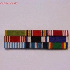 Militaria: PASADOR MEDALLA CON 9 CINTAS. Lote 3824678