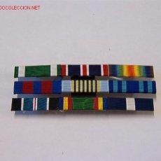 Militaria: PASADOR MEDALLA CON 9 CINTAS. Lote 7011980