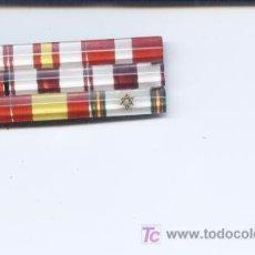 Militaria: PASADOR DE CONDECORACIONES.ANTIGUO.9 CINTAS.VICEALMIRANTE DE LA ARMADA ESPAÑOLA. Lote 65325617