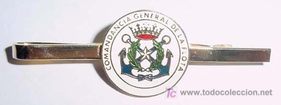 ANTIGUO PASADOR DE CORBATA CON DISTINTIVO DE MARINA COMANDANCIA GENERAL DE LA FLOTA - ESPECIALIDAD D (Militar - Cintas de Medallas y Pasadores)