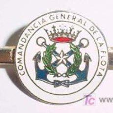 Militaria: ANTIGUO PASADOR DE CORBATA CON DISTINTIVO DE MARINA COMANDANCIA GENERAL DE LA FLOTA - ESPECIALIDAD D. Lote 54094320