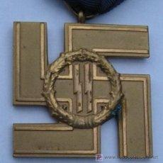 Militaria: CRUZ DE SERVICIOS LEALES EN LAS SS, POR 25 AÑOS. MÁXIMA CATEGORÍA DE ESTA DISTINCIÓN. GRAN RAREZA.. Lote 7493542