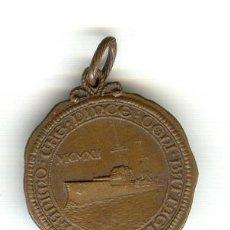 Militaria: RARA MEDALLA ITALIA GUERRA ITALO-TURCA 1911-1912 BARCO BUQUE ACORAZADO DANTE ALIGHIERI. Lote 21933291
