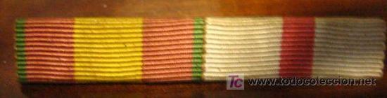 PASADOR DE DOS CINTAS (Militar - Cintas de Medallas y Pasadores)