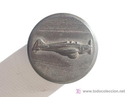 TROQUEL DE INSIGNIA DE AVIACIÓN. GUERRA CIVIL. (Militar - Medallas Españolas Originales )
