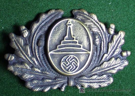 ALEMANIA III REICH - INSIGNIA METALICA NSRKB PARA GORRA - COPIA. (Militar - Reproducciones y Réplicas de Medallas )