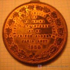 Militaria: MEDALLA RECEPCIÓN DE REYES, INGLATERRA EN FRANCIA, 1855, SIN ANILLA. Lote 6693476