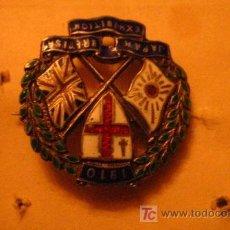 Militaria: INSIGNIA ESMALTADA DE AGUJA, 1910, DE PLATA. Lote 6693489