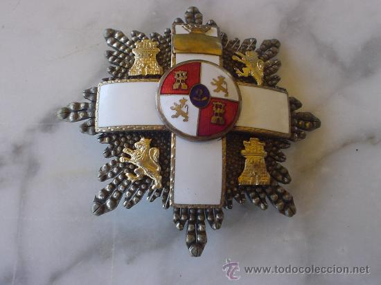 MEDALLA-PLACA MERITO MILITAR DISTINTIVO BLANCO ANTERIOR EPOCA. (Militar - Medallas Españolas Originales )