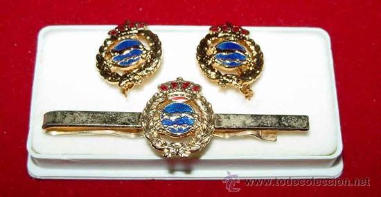 ANTIGUO PASADOR DE CORBATA JUNTO CON GEMELOS - TAL COMO SE VE EN LA FOTOGRAFIA. (Militar - Cintas de Medallas y Pasadores)