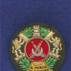 Militaria: MEDALLA COLECTIVA REGULARES BORDADA A MANO. Lote 195184423