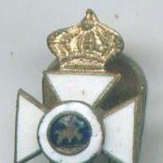 Militaria: MINIATURA DE LA CRUZ DE LA ORDEN DE SAN HERMENEGILDO. CON BOTÓN. EPOCA ALFONSO XIII. Lote 8938514