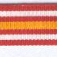 Militaria: 10 MT. CINTA PARA MEDALLITA CONSTANCIA DE LA CRUZ ROJA ESPAÑOLA 1 CM.. Lote 86522863