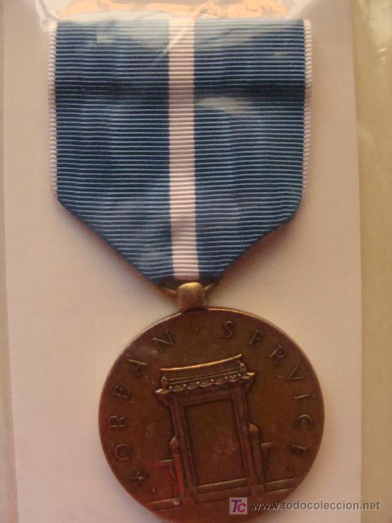 MEDALLA MILITAR USA. SERVICIO EN LA GUERRA DE KOREA. KOREAN SERVICE. PRECINTADA. (Militar - Medallas Extranjeras Originales)
